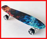 Скейт, Пенниборд 231B Penny Board Огонь Лед, фото 2