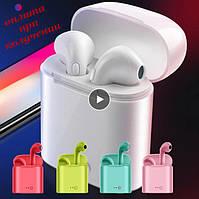 Беспроводные вакуумные Bluetooth наушники СТЕРЕО гарнитура TWS Apple AirPods Pro inPods i7s mini s 1:1 4