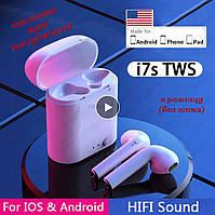 Бездротові вакуумні Bluetooth навушники СТЕРЕО гарнітура TWS Apple AirPods Pro inPods i7s mini s (10), фото 1