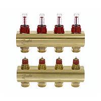 Колектор з витратомірами Danfoss FHF на 4 виходи (088U0524)