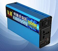 Инвертор напряжения Voltronic, 1500W, 60/220V, approximated, 1 универсальная розетка, клемы + USB