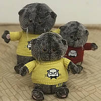 Мягкая игрушка Кот Басик в свитере, 22 см