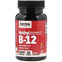Метил B-12 со вкусом вишни - 5000 мкг, Methyl B-12 (Jarrow Formulas) 60 леденцов