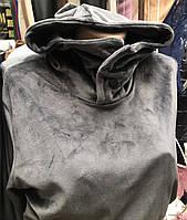 Велюровий костюм двійка жіночий сірий