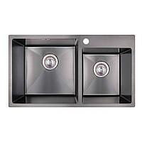 Кухонная мойка Imperial Handmade S7843BL 2.7/1.0 мм (IMPS7843BRPVDH10), фото 1