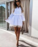 Платье красивое с длинным рукавом норма и батал новинка 2021