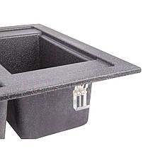 Кухонна мийка Lidz 615x500/200 BLA-03 (LIDZBLA03615500200), фото 3