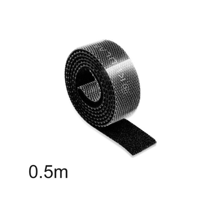 Організатор кабеля (0.5 м) міцна стяжка липучка хомут для проводів KUULAA (KL-BD-02) Чорний