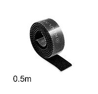 Організатор кабеля (0.5 м) міцна стяжка липучка хомут для проводів KUULAA (KL-BD-02) Чорний, фото 1