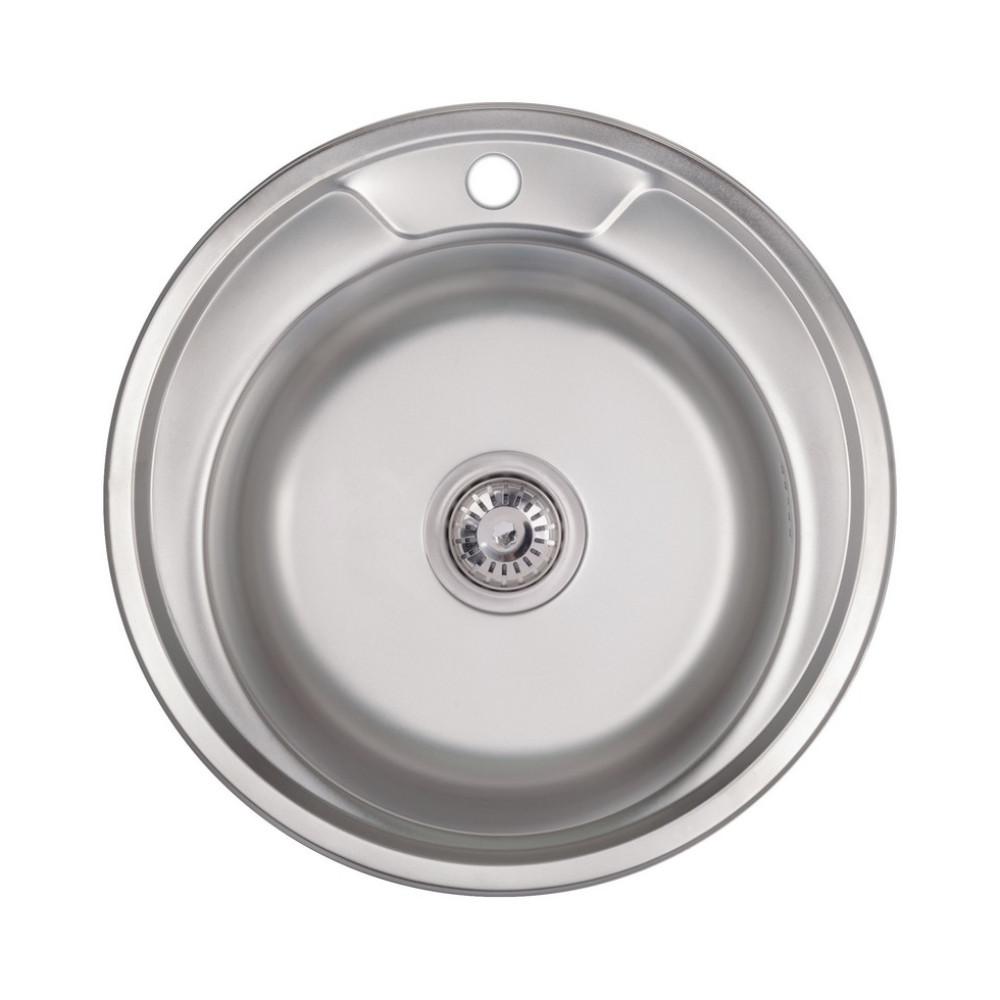 Кухонная мойка Lidz 490-A 0,6 мм Polish (LIDZ490A06POL)