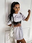 Жіноче плаття + портупея, турецька двунить, р-р універсальний 42-46 (білий), фото 3
