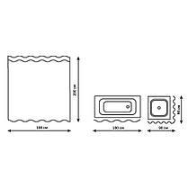 Шторка для ванної Q-tap Tessoro PA05115 180х200, фото 2