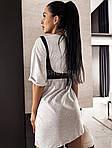Женское платье + портупея, турецкая двунить, р-р универсальный 42-46 (меланж), фото 3