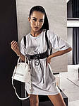 Женское платье + портупея, турецкая двунить, р-р универсальный 42-46 (меланж), фото 2