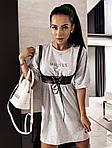 Женское платье + портупея, турецкая двунить, р-р универсальный 42-46 (меланж), фото 7
