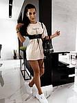 Жіноче плаття + портупея, турецька двунить, р-р універсальний 42-46 (бежевий), фото 4