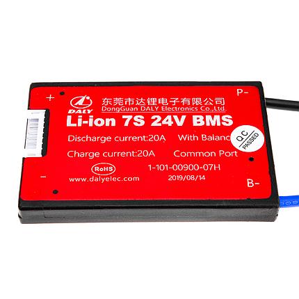 BMS плата Li-ion 24V 7S 20A симметрия, фото 2