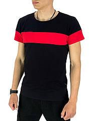 Футболка Intruder Color Stripe S Чорний з червоним (1589369461)