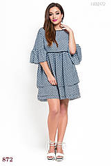 Платье PEONY Латино 48 Синий с белым (1402172)