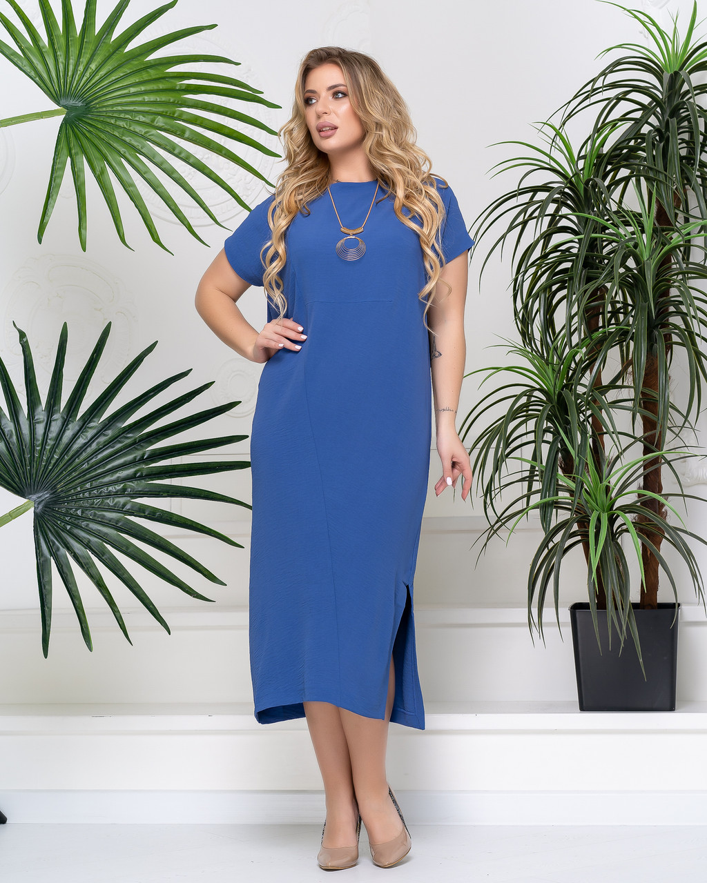 Платье PEONY Гайна 52 Индиго (2901203-52:232)