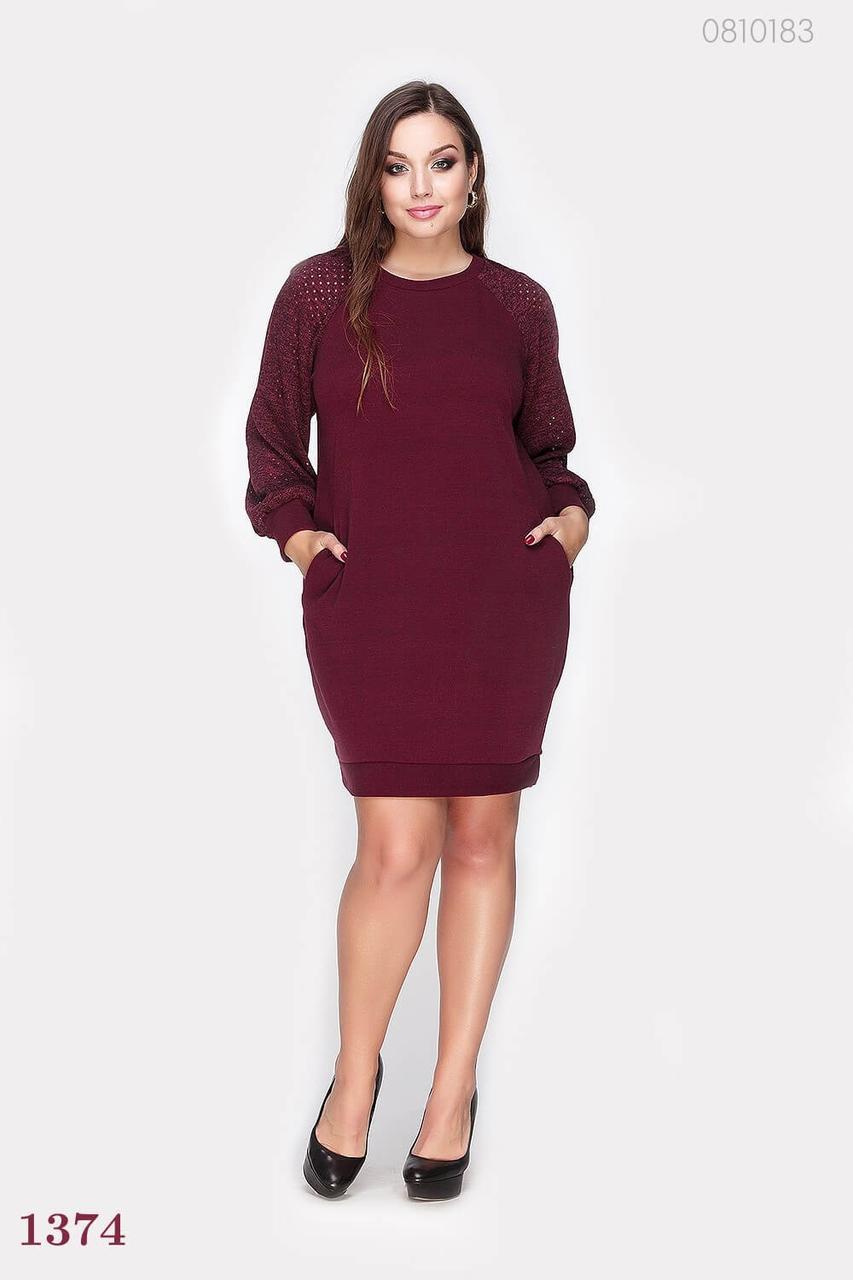 Платье PEONY Лозанна 50-52 Марсала (0810183)