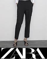 Брюки карго ZARA р.L ORIGINAL штаны укороченные с карманами женские, подростковые