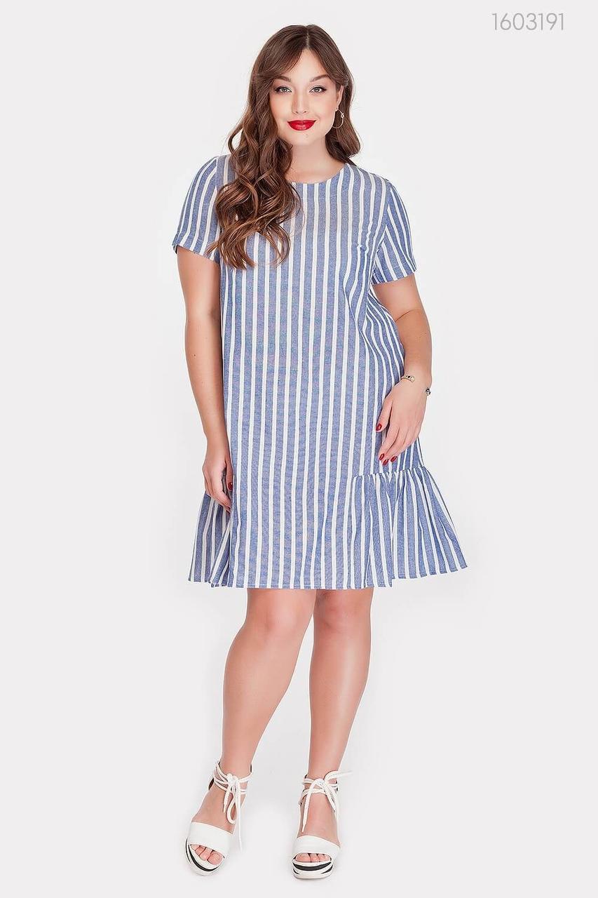 Сукня PEONY Нансі 50 Синій з білим (1603191)