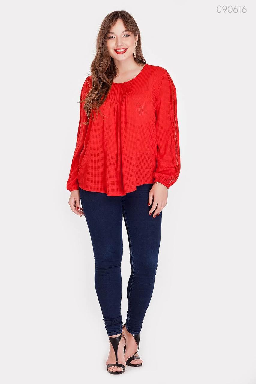 Блузка PEONY Парма 50 Красный (090616)