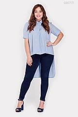 Жіноча сорочка PEONY Урбіно 52 Блакитний (0307171)