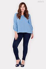 Блузка PEONY Кайман 48 Блакитний (2605172)