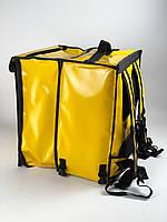 Рюкзак для кур'єрів Глово (Glovo), терморюкзак для доставки їжі жовтий