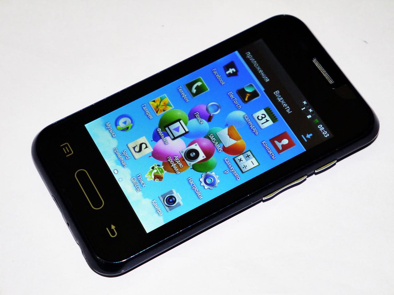 Телефон Samsung L40  Черный - 2Sim + Android +ЧЕХОЛ