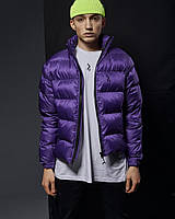 Весенняя куртка-пуховик мужская Holla фиолетовая