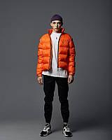 Весенняя куртка-пуховик мужская Holla оранжевая