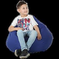 """Дитяче безкаркасне крісло-мішок """"Груша"""" 90х60 (синій) Oxford 600 Den"""