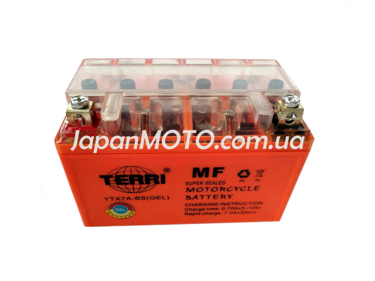 Аккумулятор 7A 12V (YTX7A-BS) TERRI гелевый 150x87x94