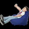 """Безкаркасне крісло-мішок """"Груша"""" 100х80 (синій) Oxford 600 Den"""