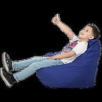 """Безкаркасне крісло-мішок """"Груша"""" 100х80 (синій) Oxford 600 Den, фото 1"""