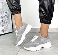 Женские кроссовки натуральная кожа/замша, фото 1