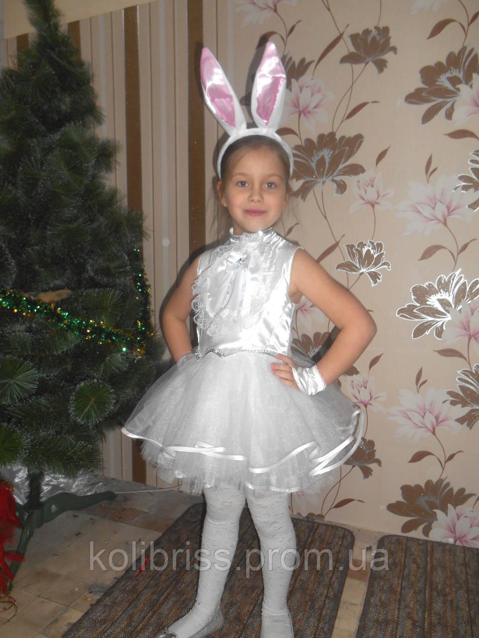 Новогодний костюм зайчика для девочки
