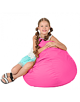 """Дитяче безкаркасне крісло-мішок """"Груша"""" 90х60 (рожевий) Oxford 600 Den"""