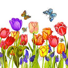 """Серветки ТМ """" La Fleur"""" ЗЗ х ЗЗ, 2 шари """"Квіти під вікном"""" 20шт."""
