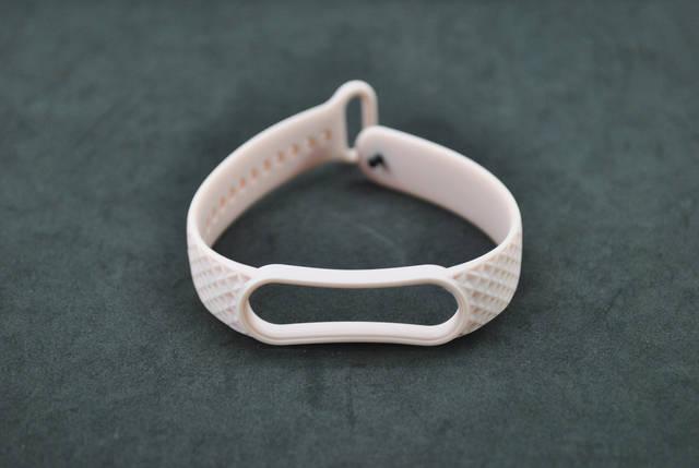 Ремінець для фітнес браслета Xiaomi mi band 5/6 Ромб Pink sand, фото 2