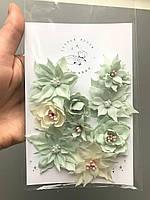 Квіти з тканини F 107