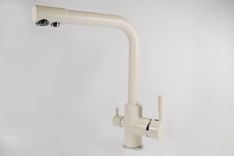 Смеситель для кухни и фильтра Zerix LR 4055-3 white бело-молочный