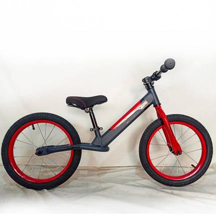 Дитячий беговел-велобіг від 16 дюймів Crosser Balance bike Air JK-07 білий, фото 2
