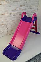Горка для катания детей, 140 см, Горка пластиковая детская для дома и улицы, горка для катания детей 0140/05