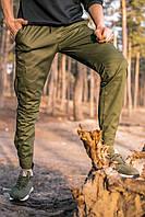 Мужские штаны карго хаки, брюки котоновые осенние весенние Intruder Baza