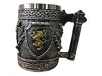 Кружка Чашка 3D Со Львов Топоры Лев в Щите, фото 1