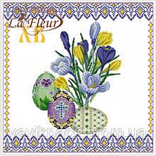 Салфетки столовые La Fleur Пасхальные крокусы 33х33 см 20 шт